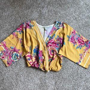 Floral V Neck blouse